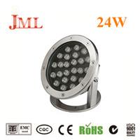 JML LED Projecteurs étanches IP68 extérieur 12V 24W blanc chaud sous-marin blanc lumières pour la décoration de la maison lumières de Noël
