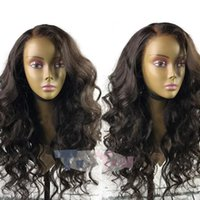 Brazilian Loose Wave Hair Silk Base Lace Front Wigs Adjustab...