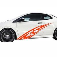 2PCS / 설정 범용 모터 화염 파인 스트라이프 레이서 그래픽 패턴 자동차 전체 개인 바디 풀 데칼 스틱