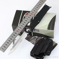 Microtech 150-10 사용자 정의 Halo V T / E 4.6 ''풀 사이즈 새틴 일반 나이프 TANTO EDGE 단일 액션 원래 상자가있는 전술적 칼