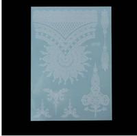 8801c6a9bc560 OPHIR Indian Arabic White Henna Tattoo Paste Lace Designs Wedding Bride  Choker Tattoos Sticker Trendy Transferable Tatoo _MT069-