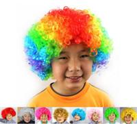 Unisexe Cosplay Perruques Perruque De Clown Halloween Fête De Noël Perruque Perruques Frisées Explosion Tête Perruque Arc-En-Ciel Joker Perruques DC178