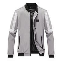 Homens jaqueta de Listrado Casuais Jaqueta de Beisebol Primavera Outono Moda Slim Fit Homens Jaquetas Finas Casaco de Marca Casuais