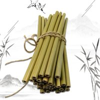 Bamboo Straws Bamboo Drinking Straw Reusable Eco Friendly Handcrafted Natural Drinking Straws and Cleaning Brush