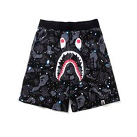 Black Starry Sky Shark Denti Modello Teenager Night Shorts luminosi Pantaloni da uomo Shorts da uomo Taglia M-2XL