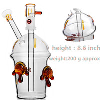 Glass Bong Dab Rig Water Pipes 8. 6 inch 5mm Thick Bowl Quart...