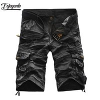 FOJAGANTO Quality Brand Men Cargo Shorts 2020 летние мужские повседневные шорты талия мужская уличная грузовая короткая (без ремня) CX200623