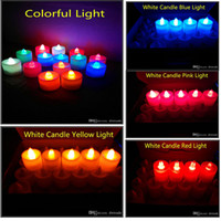 9 colors 3. 5*4. 5 cm LED Tealight Tea Candles Flameless Light...
