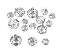 Silber überzogener ausgehöhlter Laterne Kugelkäfig Anhängermontage, 3 Größen können Perlen halten DIY Floating Charms Halskette Anhänger Federball Medaillon