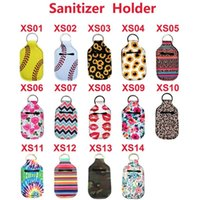 Neoprene Hand Sanitizer Bottle Titular Keychain Bags 30ML 10 * 6cm Key Rings Soap Mão Bottle Titular Partido 120pcs Favor CCA12112