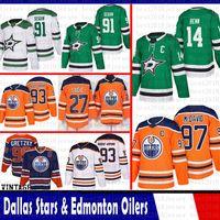 Dallas Stars Mens Jamie Benn 91 Tyler Seguin Jersey Edmonton Oilers 97 Connor McDavid 93 Ryan Nugent-Hopkins 27 Milão Lucic 99 Wayne Gretzky