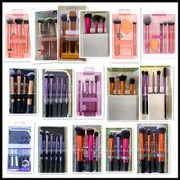EPACK макияж блеск кисти набор теней для век румяна кисти макияж инструменты профессиональная щетка + кожаная сумка с розничной коробке R