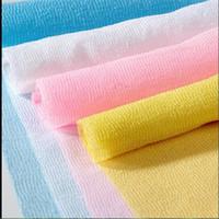 فرك ZAO منشفة نايلون شبكة حمام دش غسل الجسم النظيفة تقشير النفخة تنقية منشفة القماش أجهزة تنقية الغاز EEA1426-5