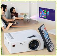 UNIC UC18 미니 LED UC 18 프로젝터 휴대용 포켓 프로젝터 멀티 미디어 플레이어 홈 시어터 게임 지원 USB TF Beamer MQ10