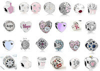 Fit Pandora Braccialetto di fascino Braccialetto Mix tema argento smalto charms charms pendente perlina 925 danghi in argento ciondolo fai da te gioielli europeo serpente collana catena di serpente Braccialetto