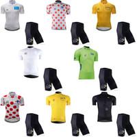 투어 드 프랑스 팀 사이클링 반팔 저지 반바지는 여름 MTB 자전거 야외 스포츠 옷 자전거 경주 Ropa Ciclismo E61602