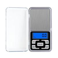 مصغرة الإلكترونية الرقمية مقياس الماس مجوهرات وزن مقياس التوازن جيب غرام شاشة عرض LCD مع مربع التجزئة 500 جرام 0.1 جرام 200 جرام 0.01g
