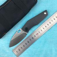 LEMIFSHE SJ75 Couteau pliant Flipper Tank D2 Lame TC4 alliage de titane + G10. Couteau à fruits pratique EDC de camping en plein air avec poignée en fibre de carbone