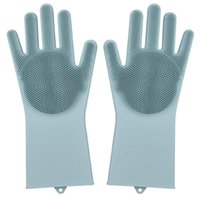 Silicone Dishwashing Gloves, Reusable Silicone Kitchen Cleani...