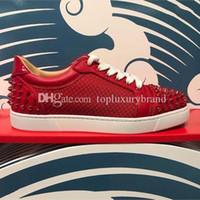Luxe Uomo piatto Spikes scarpa da tennis Ac Seavaste 2 Scarpe inferiori rosse Junior borchiati per uomo, donna casual walking outdoor suole rosse Tempo libero Trainer