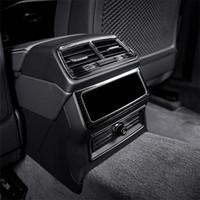 سيارة التصميم الخلفي الهواء المخرج الإطار غطاء تريم الفولاذ المقاوم للصدأ لأودي A6 C8 2019 السجائر الخلفي الولاعات الترتر السيارات الداخلية