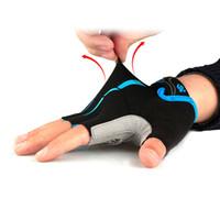 Radfahren schwarze halbe Fingerhandschuhe atmungsaktiv Slip Silikon stoßfest Fahrradhandschuh Größe M-XXL 3 Stil neu