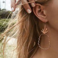 Bohemian geometrica Rosegold Ananas Orecchino con pendente Pericing ciondola gli orecchini per i monili delle donne di moda