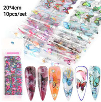 Rapide Nail Art Film Motif Papillon Nail Foil Wraps Nail Art Décoration Set Pattern Mixed