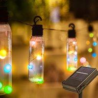 8M 10 Birnen LED-Solarschnur beleuchtet Hinterhof Patio Flasche Lichter Ocassion Lichter für Bistro Pergola Deckyard Zelte Market Cafe Gazebo