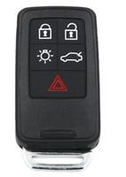 5 버튼 원격 키 스마트 자동차 키 Fob 434Mhz ID46 칩 for 볼보 XC60 S60 S60L V40 V60 S80 XC70 KYDZ Uncut Blade