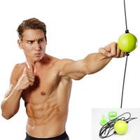 Boks Topu Refleks Hız Eğitim Ekipmanları MMA Sanda El Göz Tepki Egzersiz Muay Combat Topu Spor Çift Bitiş Çanta T191230