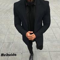 -Breasted Individual 2019 Brasão de Moda de Nova Gentlemens Trench Brasão Homens Long Outono Inverno Tamanho à prova de vento de Slim Trench Homens Mais