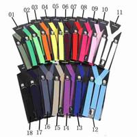 I braccialetti regolabili elastici di Y-forma variopinti affascinanti delle bretelle clip-on unisex delle donne degli uomini liberano l'alta qualità di trasporto 10pcs / lot