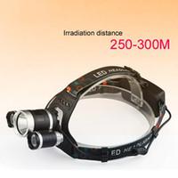 Crestech 6000Lm 3T6 مصباح LED كشافات رئيس مصباح الضوء 3-وضع الشعلة +2x18650 بطارية+ شاحن الصيد أضواء كشافات 3T6