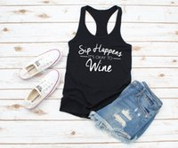 Kadın Tankları Camis Sip Olurar Şarap için Tamam Yarışçır Tank Top Parti Kadın Moda Genç Sokak Tarzı Seksi Yelek Ateşli Singlet S