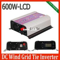 Freeshipping 1000 W LCD ızgara kravat invertör DC rüzgar türbüratör jeneratör için damperli yük ile, mppt saf beri invertör dalga rüzgar