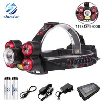 Glare LED Headlamp Zoomable Headlight 1T6+ 4XPE+ COB led lamp ...