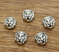 Distanziatori perline Leopard Charms 1mm Perline con foro centrale 100 pz / lotto Perline animali Tono argento antico 11x12mm 2014