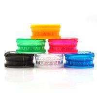 최신 다채로운 40 미리 메터 플라스틱 허브 갈기 스파이스 밀러 분쇄기 크러셔 연삭 3 부품 휴대용 혁신적인 디자인 흡연 파이프 도구 DHL