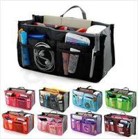 السفر إدراج المنظم المزدوج أكياس مرتب حقائب التجميل حقائب محفظة حقيبة ماكياج mp4 مستلزمات النظافة حقيبة الحقيبة النثرية حمل أكياس تخزين المنزل LT49