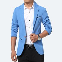 2019 new men Suit Spring And Autumn Leisure Blazer Pure Colo...