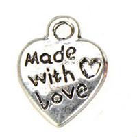 vintage silver heart charms diy fashion jewelry findings com...