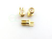 Or SMA soudure jack femelle bord de pince de montage PCB connecteur de l'adaptateur RF