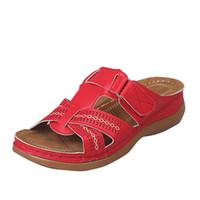 Le nuove donne Sandali scarpe di lusso scorrere modo di estate pattini larghi piani economici delle migliori donne all'aperto Beach Pantofole grande formato 35-43