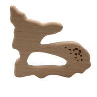 New infantil do bebê de madeira Teether cervos Forma Natrual de madeira Bebê mordedor Brinquedos de Madeira presentes do chuveiro dentição Acessórios do bebê