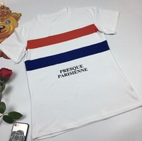 Presque Parisienne alphabet printing Dutch flag round neck t...