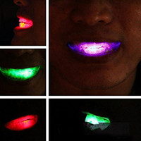 LED Halloween Decoration Night Light RGB Glowing Teeth Decor...