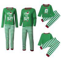 Aile Eşleşen Noel Pijama İki Adet Set Kırmızı Harfler Ren Geyiği Ağacı Kar Baskı Desig Erkekler Kadınlar Için Nightcloth Pijama Pijama Çocuk