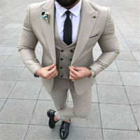 Costumes pour hommes Blazers Grey Hommes 2021 Slim Fit Style Street Style Smart Business Party Fête de promotique Broom Tuxedo Man pour mariage Terno Masculino