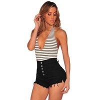 Mulheres Hight Rise Elastic Button Skinny Denim Curvy Stretch Shorts Calças Calças Verão Grande Tamanho Denim Shorts Vintage